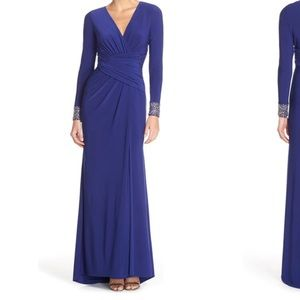 Vince Camuto Embellished Sleeve Jersey Gown, sz 10